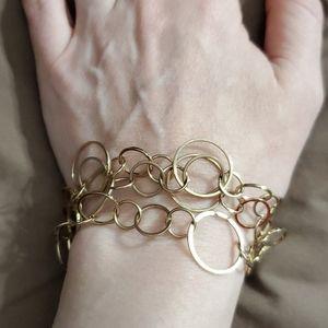 Vintage gold loop bracelet